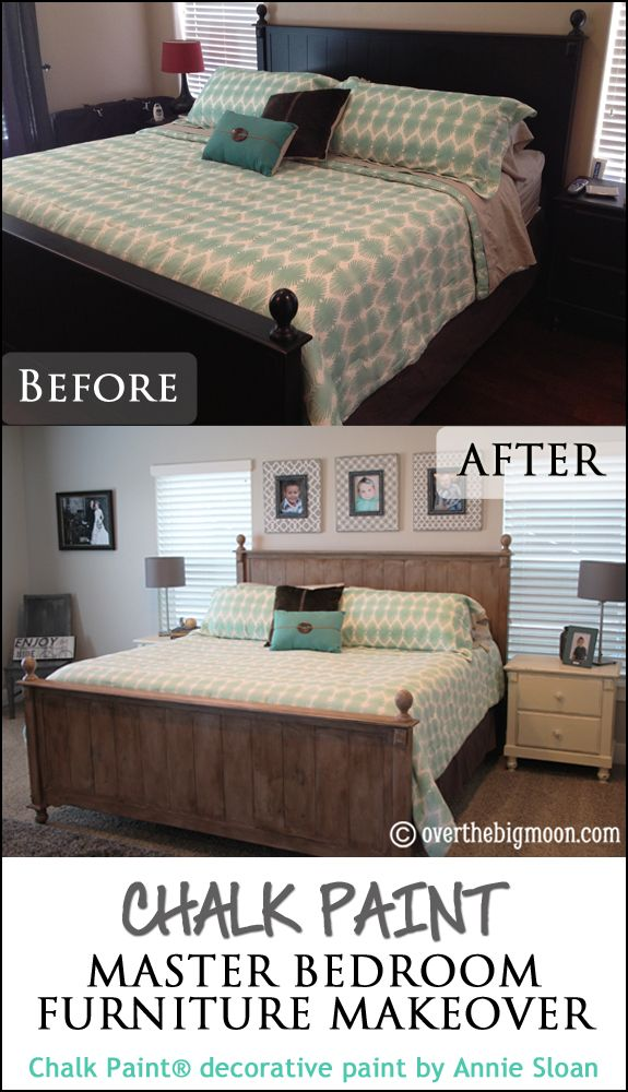 Chalk Paint Master Bedroom Furniture Makeover Bedroom Furniture Makeover Master Bedroom Furniture Furniture Makeover