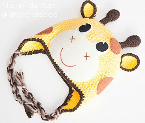 Gorro jirafa hecho a mano de lana perfecto para sesión de fotos de ...