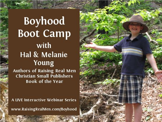 """Today in Boyhood Boot Camp, our LIVE webinar series for parents of boys up to age eight, we'll be talking about """"The Heart of the Matter"""" -- teaching about the Lord, morality, and character. We'll talk about purity, media and all sorts of temptations our boys face."""