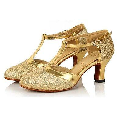 Zapatos de baile (Morado/Oro/Azul/Rosado) - Moderno Tacón grueso 2016 – €22.04