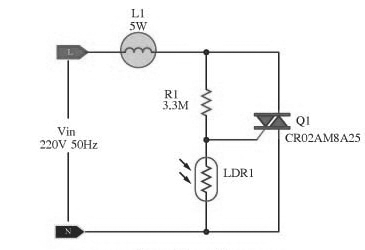 Automatic Lamp Dimmer Circuit using Triac | Circuit diagram and Circuits