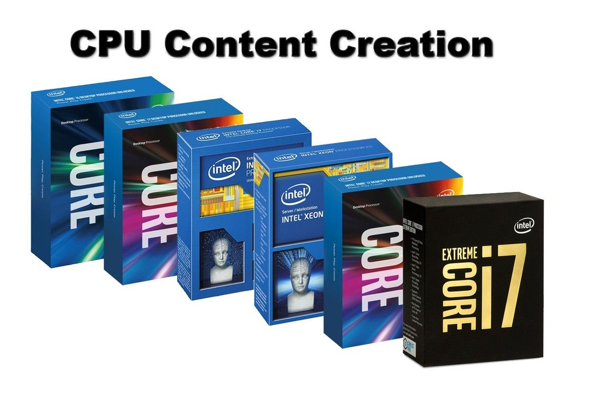 Charts CPU Performance Content Creation: 10 CPUs tested - Intel Core i7-6800K - Charts > CPUs - Reviews - ocaholic