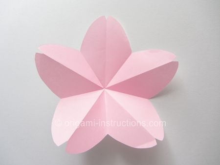 Origami cherry blossoms for my cherry blossom themed wedding diy easy origami flower mightylinksfo