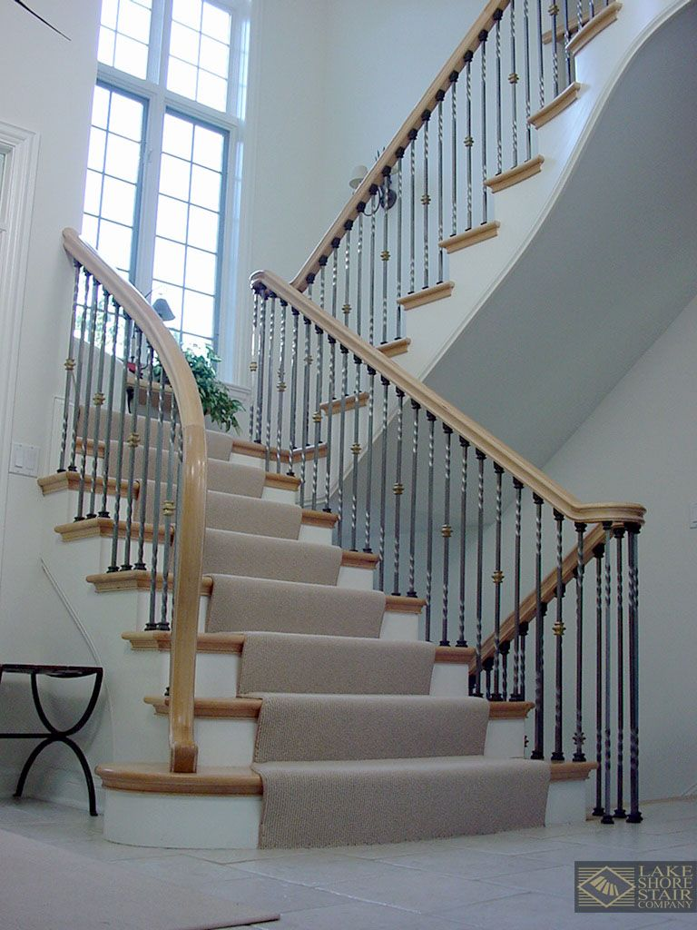 Best Traditional Stair With Unique Iron Ball Balusters 640 x 480