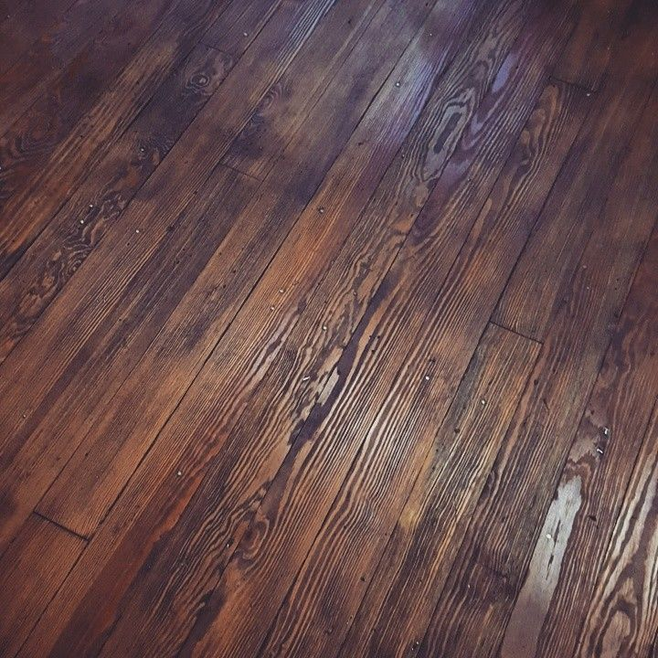 Refinished 100 Year Old Pine Floors Provincial Stain