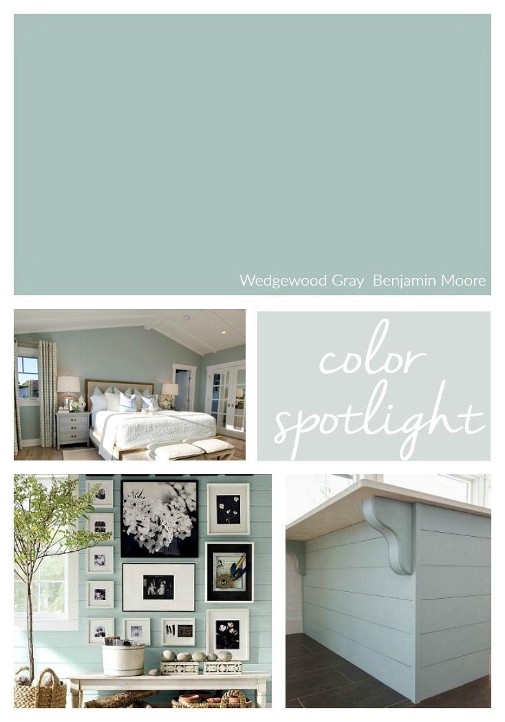 Benjamin Moore Wedgewood Gray Color Spotlight Interior Paint