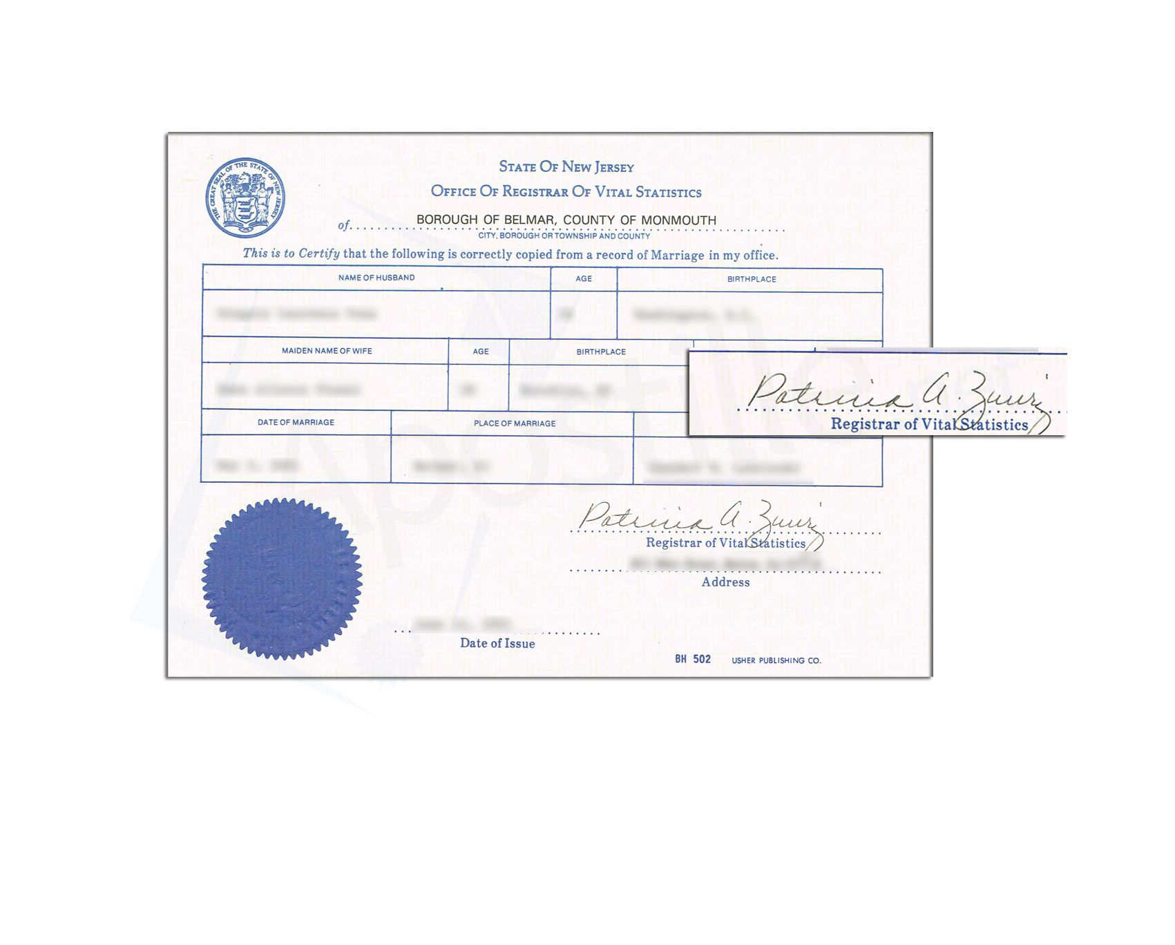This is a sample of a new jersey birth certificate acceptable for this is a sample of a new jersey birth certificate acceptable for apostille state of new jersey sample apostille pinterest birth certificate aiddatafo Images