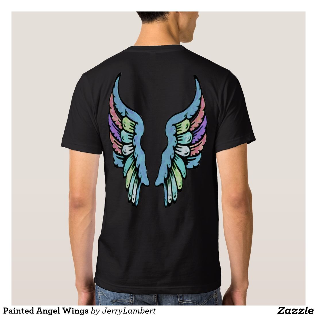 Painted Angel Wings T Shirt
