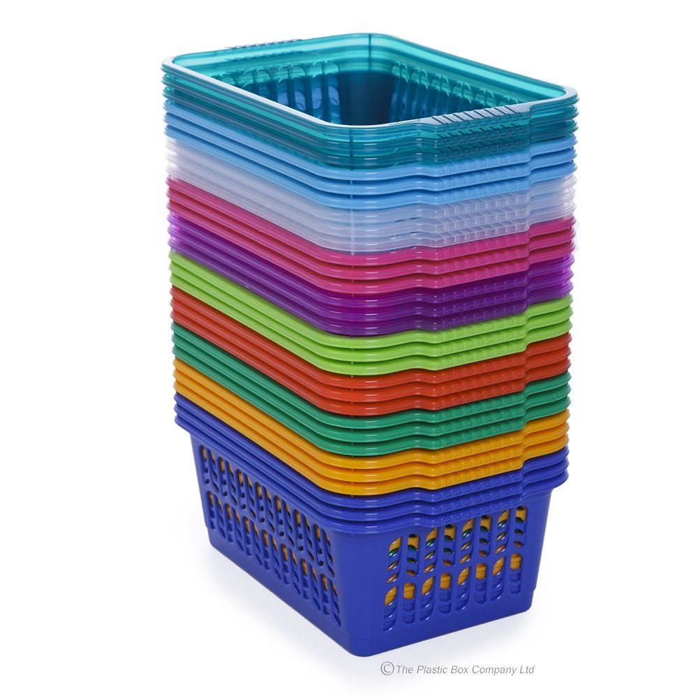 colored plastic baskets wham storage medium. Black Bedroom Furniture Sets. Home Design Ideas
