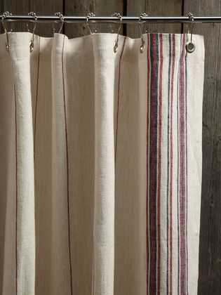 Simple Shower Curtain Rustic Linen Curtains Coyuchi