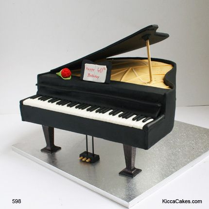 .Piano Novelty Cake- the time and effort put into this cake really paid off.