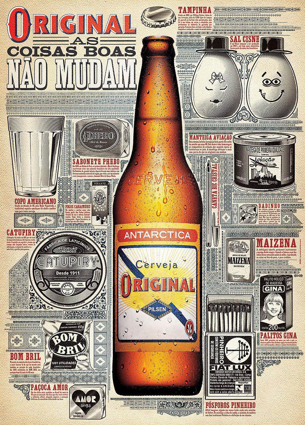 Cerveja Original Beer Brand Poster From Brazil