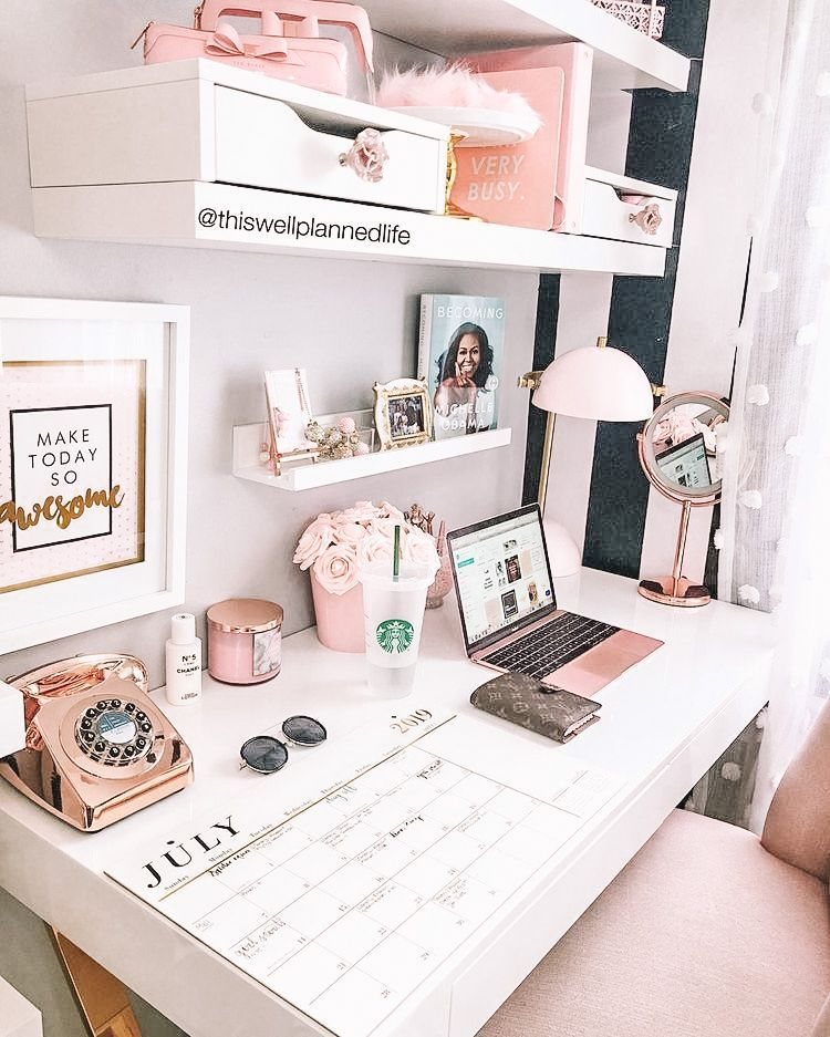Informations About Rose Gold Office Decor From Amazon - DIY Darlin' Pin  You can easily use my profile to examine different pin types. Rose Gold Office Decor From Amazon - DIY Darlin' pins are as aesthetic and useful as you can use them for decorative purposes at any time and add them to your website or profile at any time. If you want to find pins about Rose Gold Office Decor From Amazon - DIY Darlin', the posts on... #Amazon #chambre cocooning ikea #Darlin #Décor #DIY #gold #Office #rose