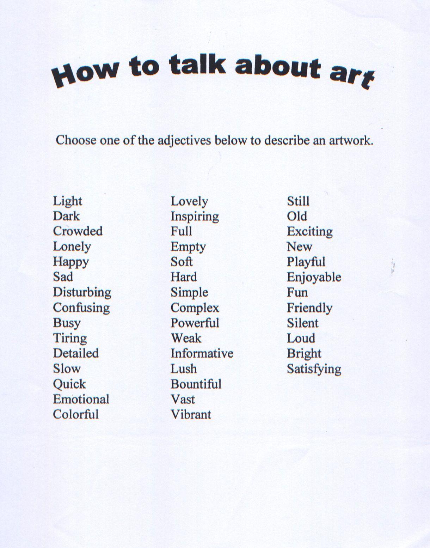 Art Rubric Art Rubric Kindergarten Art Critical Thinking