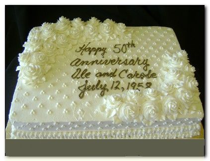 Pg 4 Number 17 50th Anniversary Cake White Sheet Metallic Gold