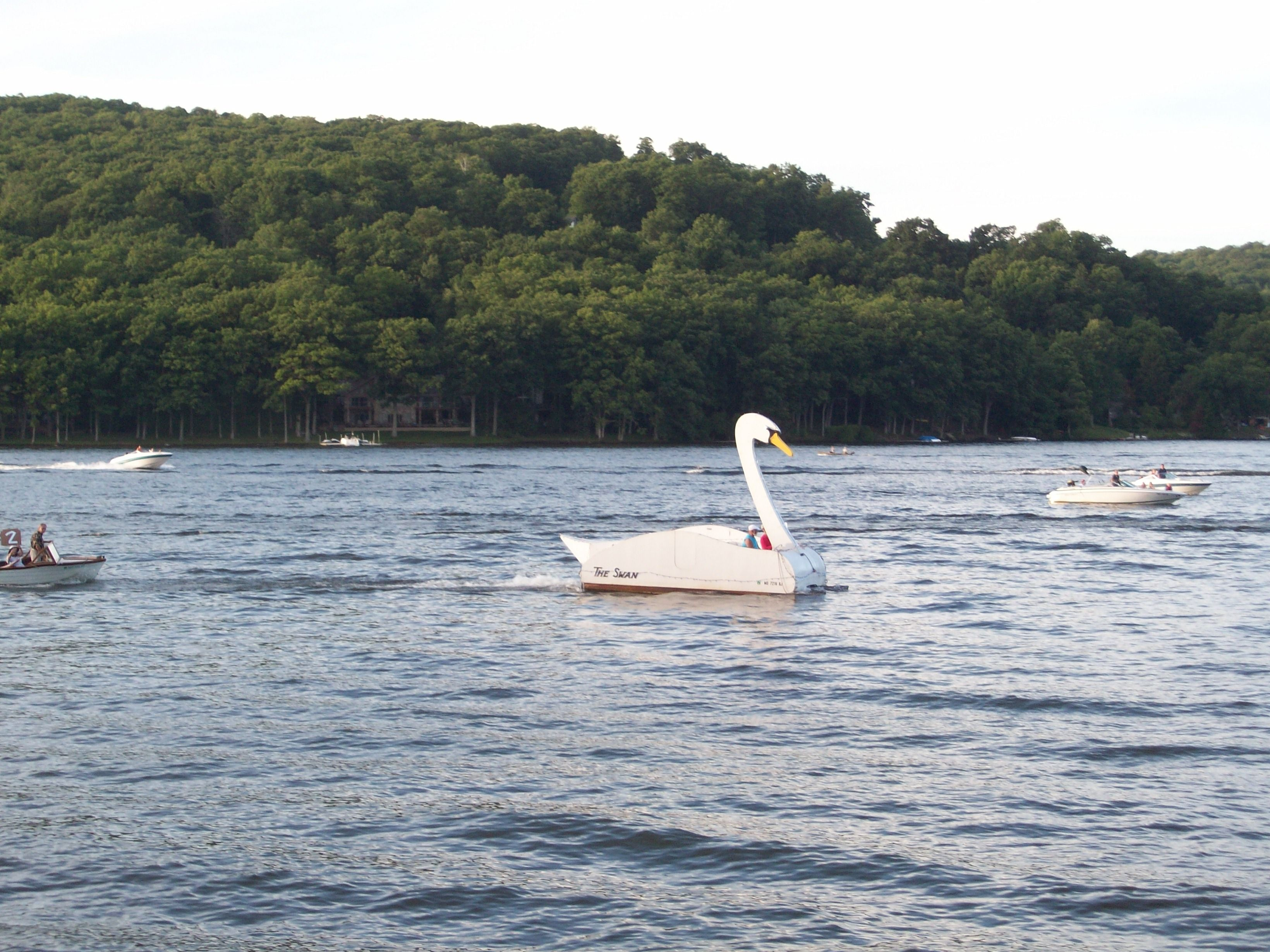 The Swan Boat Started The Boat Parade On July 5 Deep Creek Lake Maryland Deep Creek Lake Boat Parade Lake