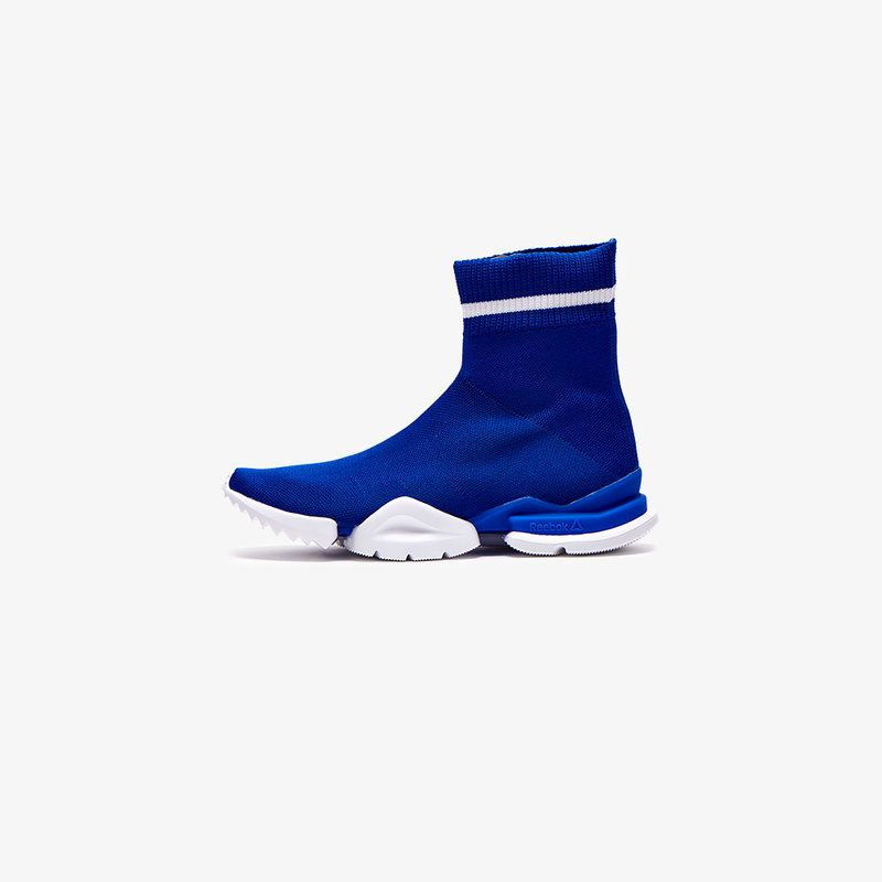 REEBOK REEBOK WHITE AND BLUE SOCK