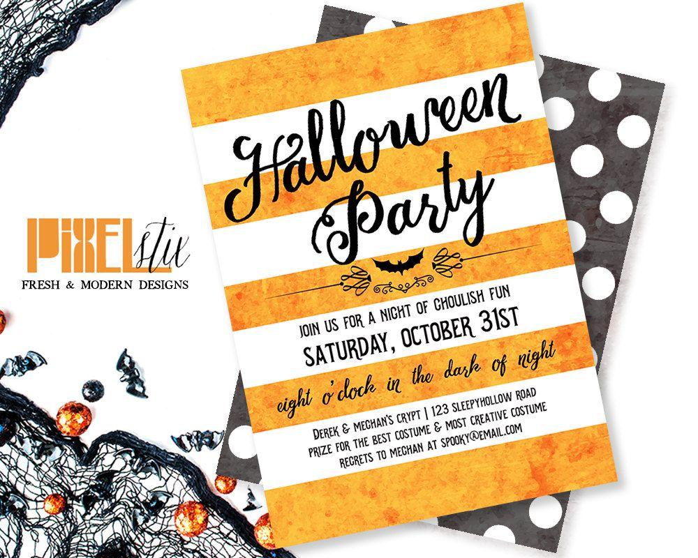 halloween invitation / halloween party invitations / adult halloween ...