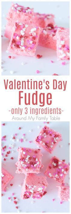 Make this quick Valentine's Day Fudge for your sweetie this February. It has onl... - FUDGE Make this quick Valentine's Day Fudge for your sweetie this February. It has onl...  - FUDGE -