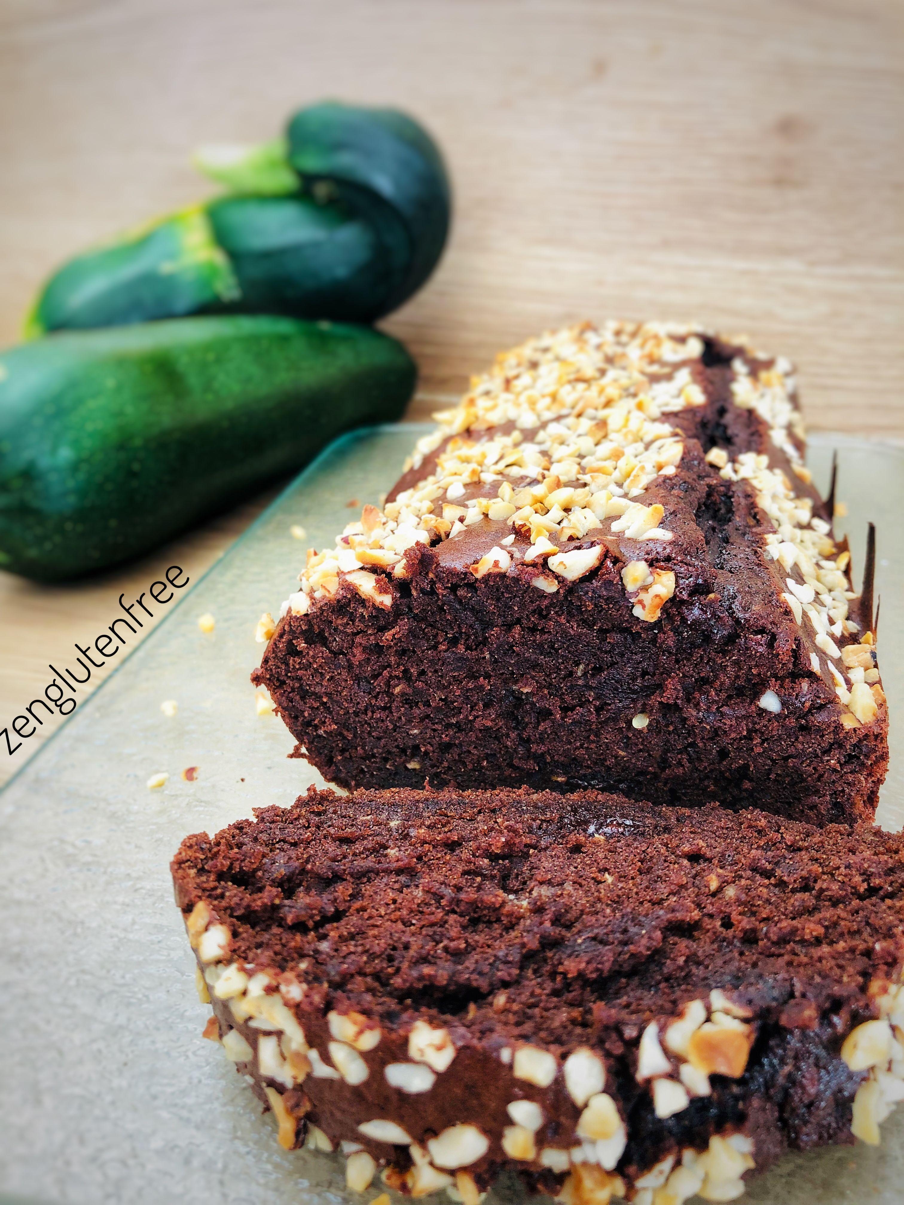 Gâteau chocolat courgette sans gluten | Moelleux au ...
