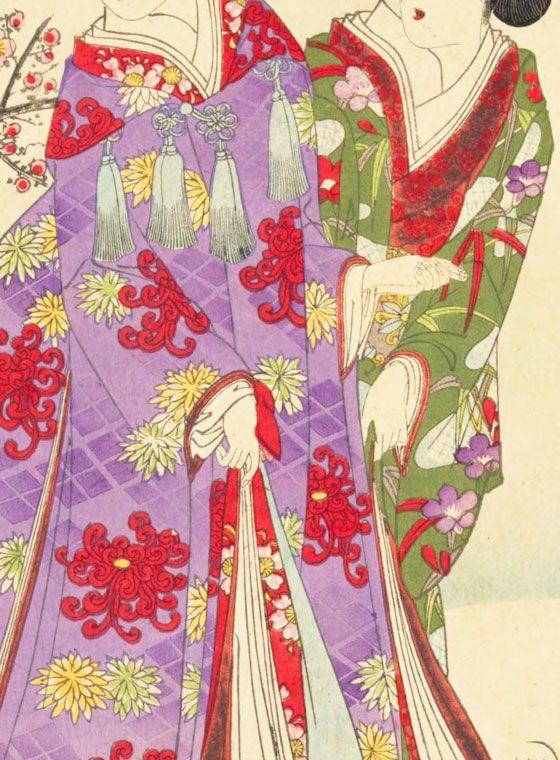 ☆錦絵で楽しむ四季の装い☆ 雪見のあで姿 | 錦絵, 大寒, 四季