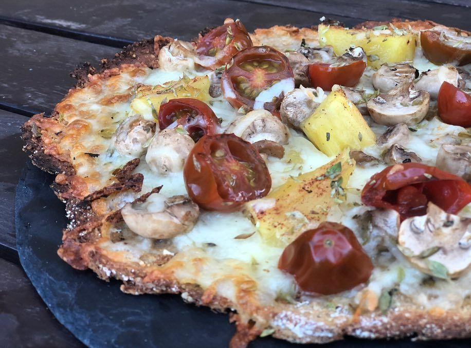 Pizza De Coliflor Y Avena Cenas Pizza De Coliflor Verduras