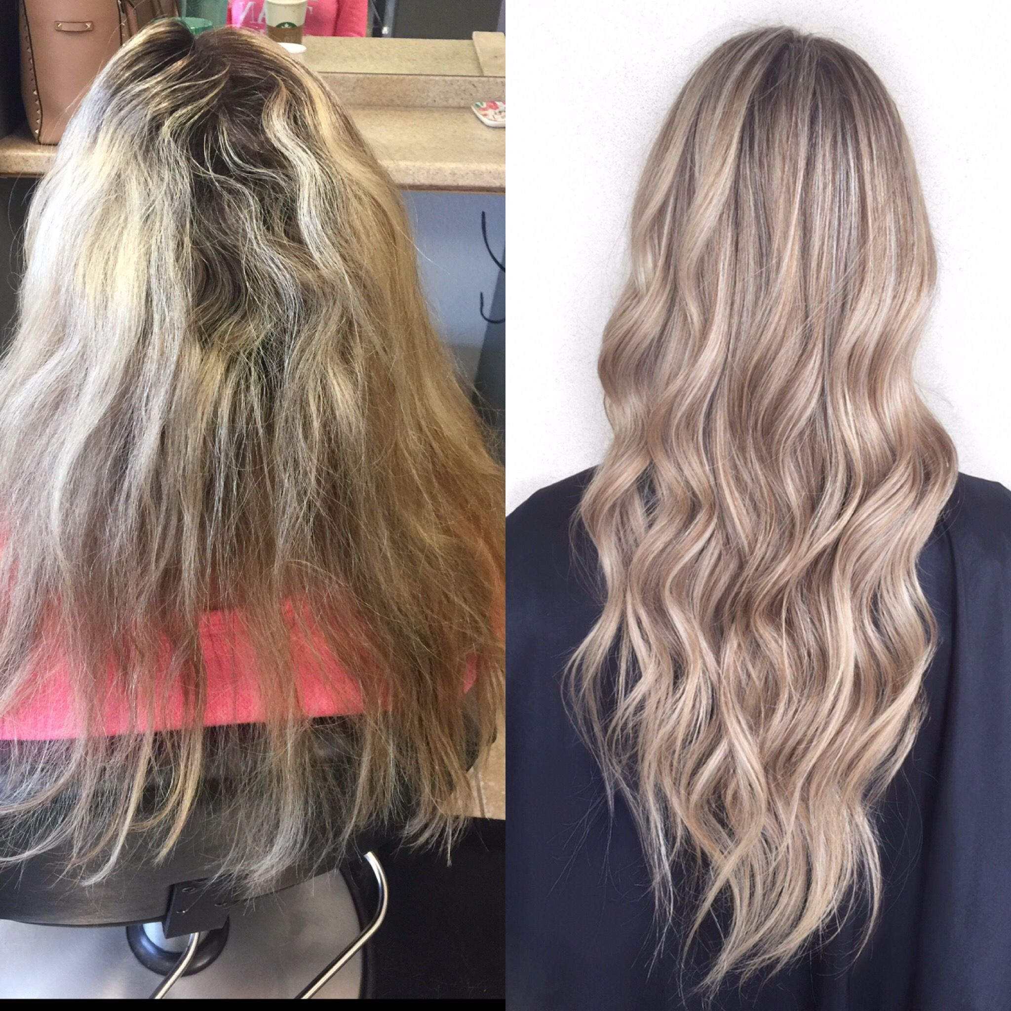 Before And After With Brixtco Extensions 2 Rows Of Hand Tied Hair