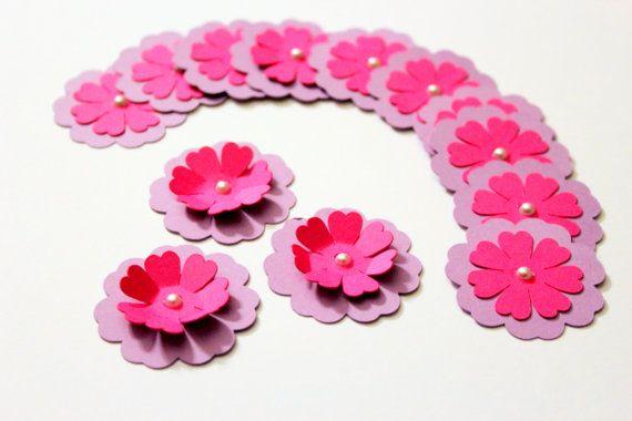 3d flower confetti - Pink confetti - Flower confetti - Paper flower - Cute flowers - handmade flowers - wedding confetti - Custom confetti