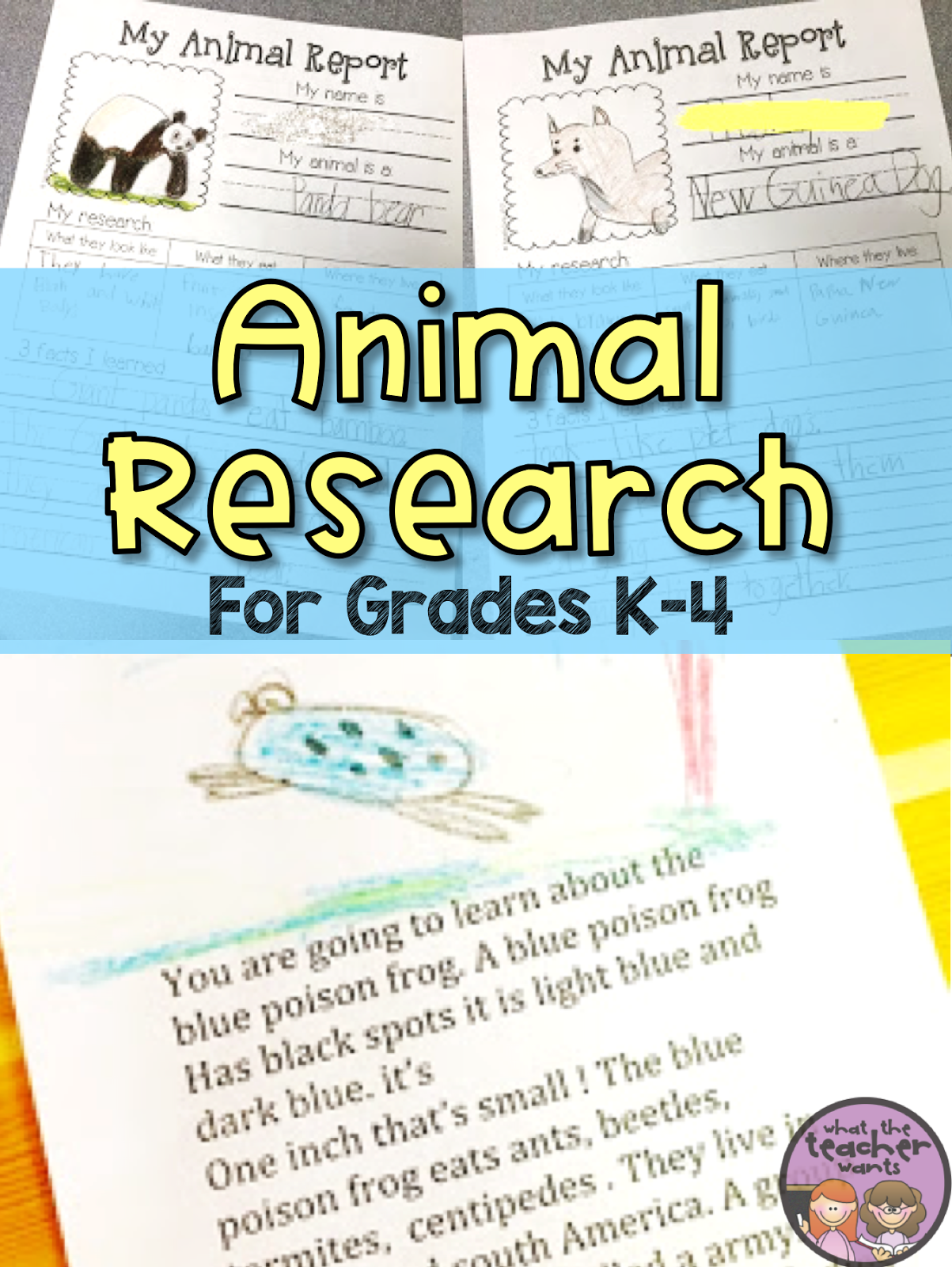 Animal reports are a fun way to get young students excited about doing research. This post shows how I differentiate my animal research for grades K-4.