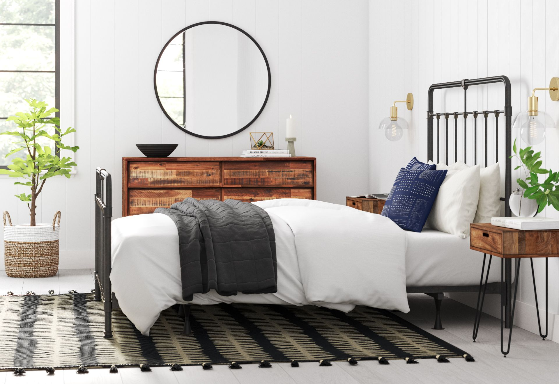 Industrial Bedroom Design  Industrial bedroom design, Bedroom