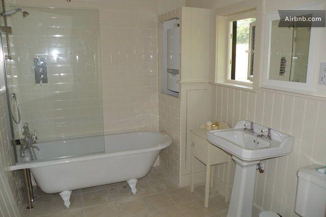 Roll Top Glass Screen Shower Bath Small Bathroom Decor Bath Shower Screens