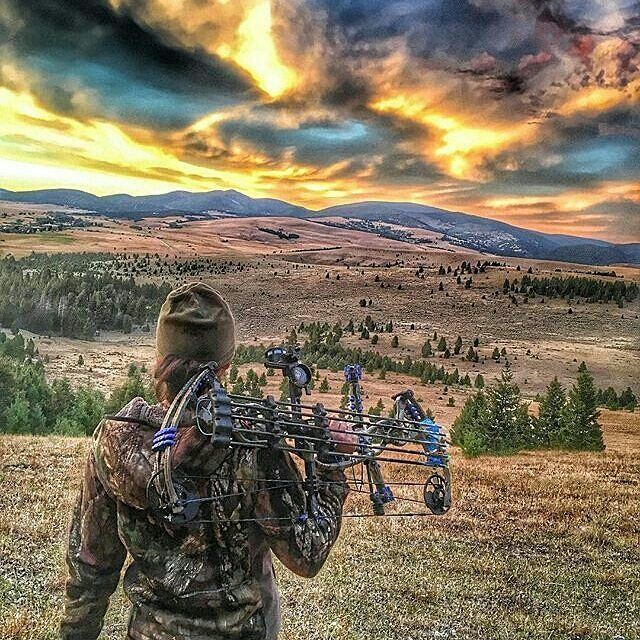 Gone bow hunting with a cool skyline view. Visit our site 👉 #linkinbio for hunting tips and hacks. 📷 by @bowmarbowhunting
