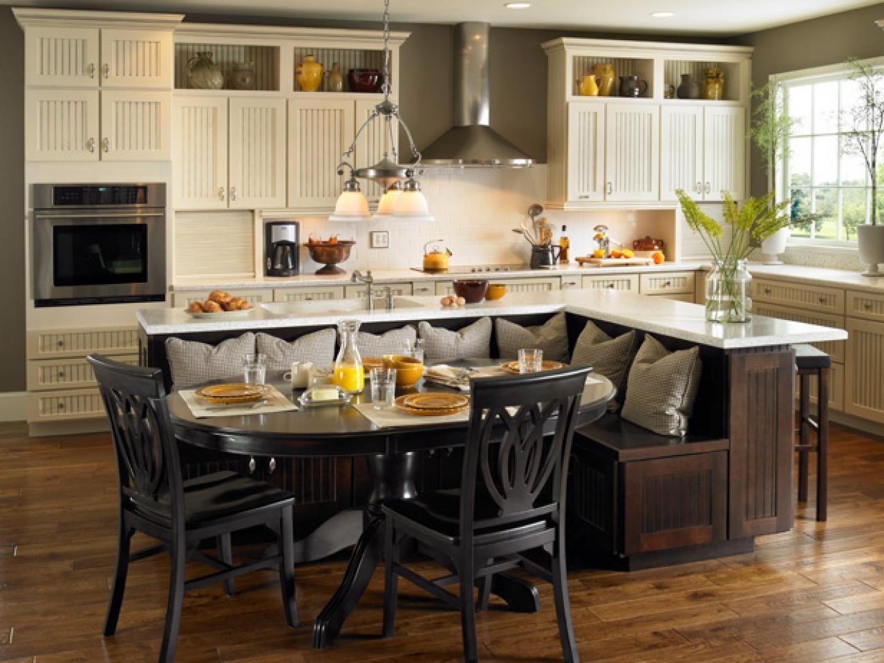 Kitchen Island Table Ideas And Options Hgtv Pictures Kitchen Idea Kitchen Island Built In Seating Kitchen Island Designs With Seating Kitchen Island Design