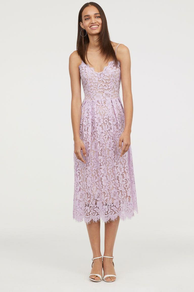 Lace Dress Light Purple H M Size 0 Or 2