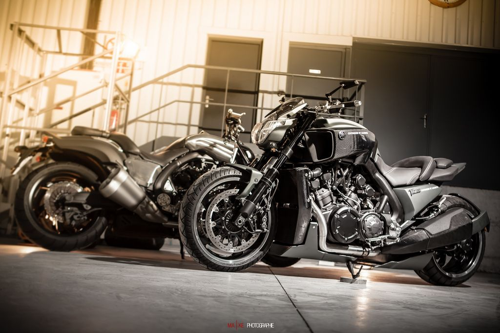 hypermodified #lazareth #v #max #vmax #v-max #yamaha | Frenchman Ludovic has a factory in Annecy-le-Vieux, near the Swiss border, where he turns out two, three and four-wheel creations – including unique car/bike hybrids such as R1-engined bespoke quads and a supercharged 84bhp Yamaha TMax.