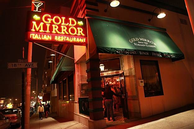 Gold Mirror Sf Clic Italian Restaurant I D Like To Go Back And Check It Out