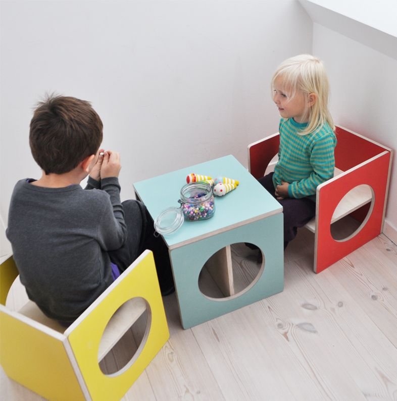 kids design cube chairtable smalldesign