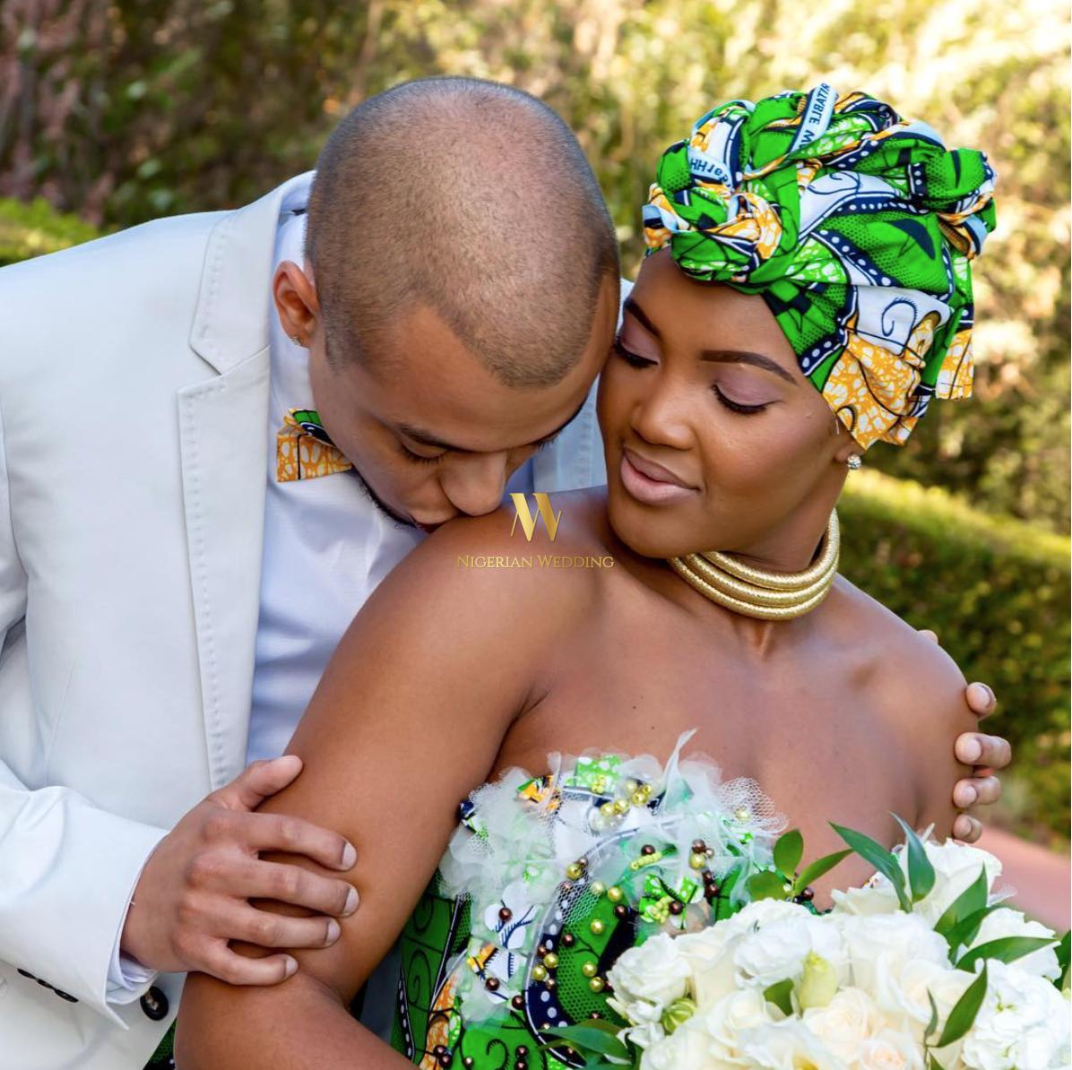South African Zulu Bride Nosipho Miya & Her Groom, Demetrius Leiva ...