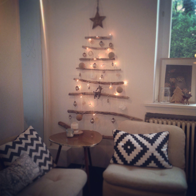 Tannenbaum an der wand xmas pinterest weihnachten baum und tannenbaum - Weihnachtsbaum wand ...