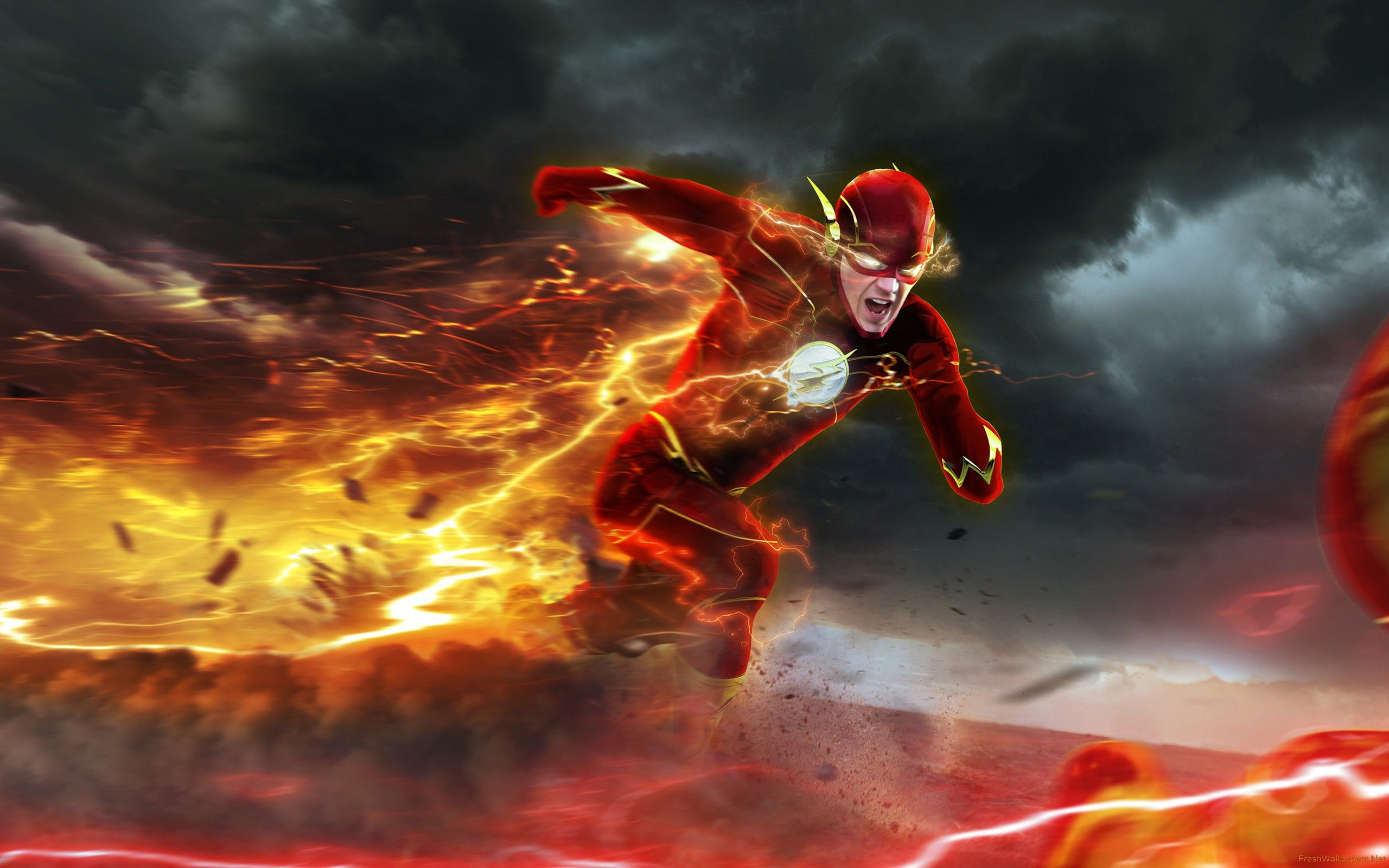 barry allen in the flash season 2 tv poster wallpapers  | the