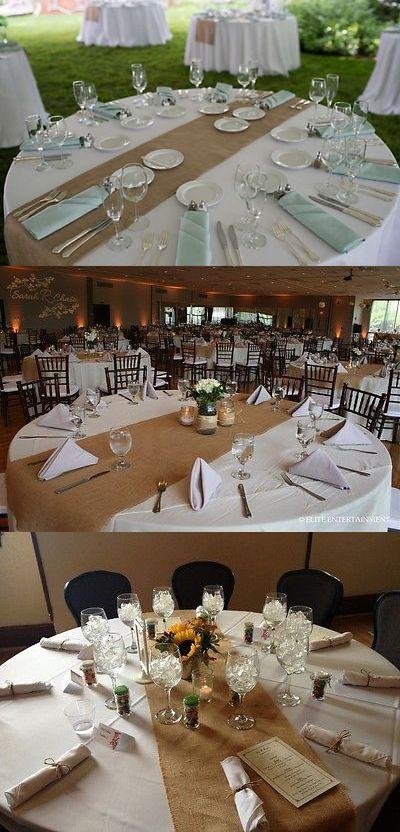 Tableware And Serveware 33161: 20 Lot Burlap Table Runner 14 X108 Inch  Wedding 100%