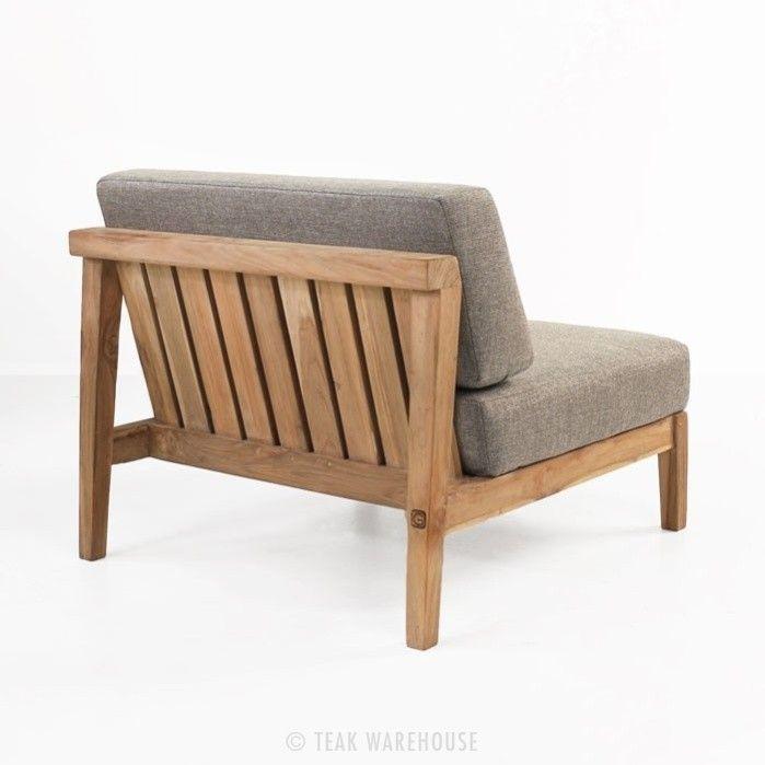 Reclaimed teak center chair back view   Sillones   Pinterest ...