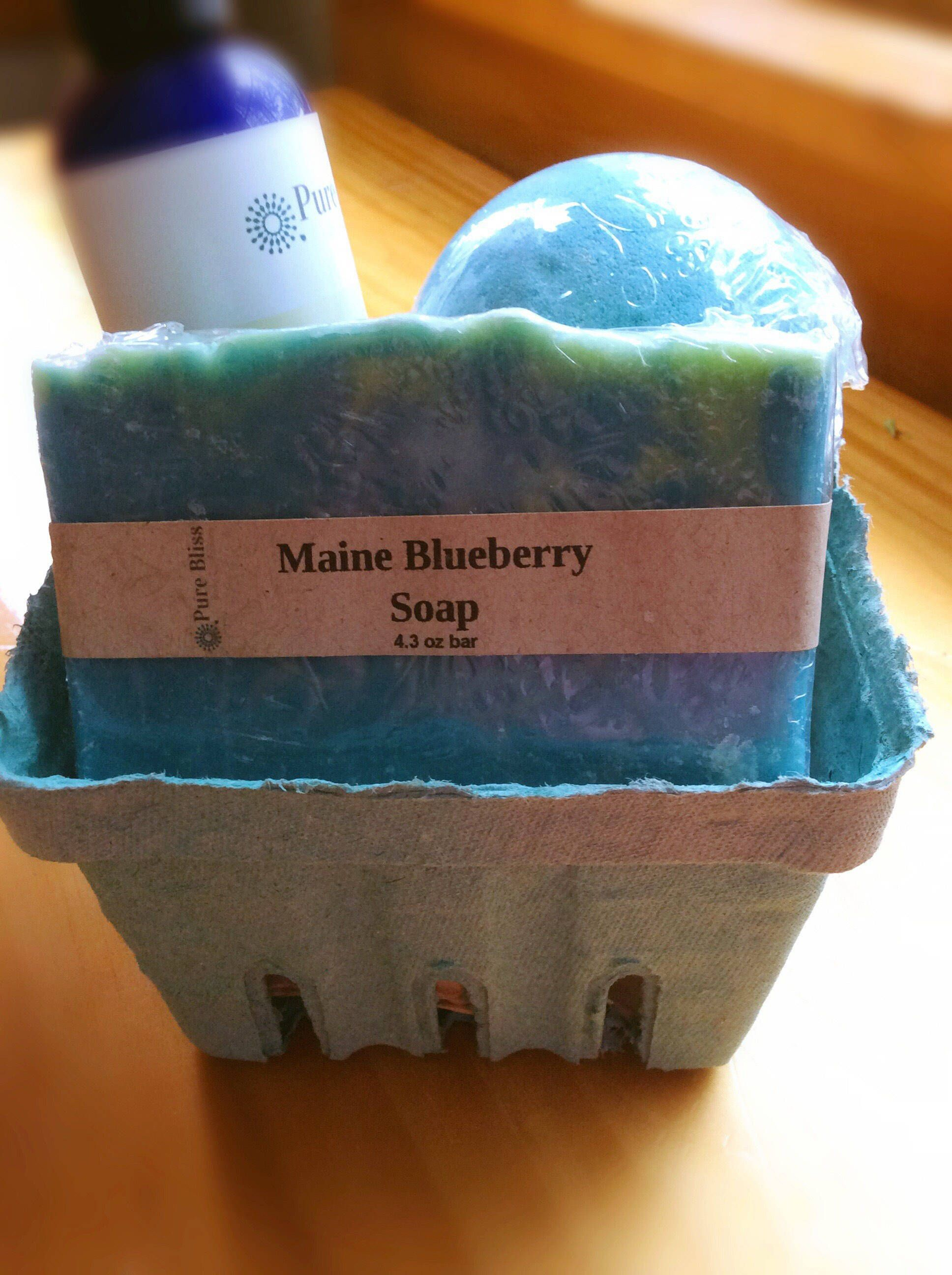 Maine blueberry basket blueberry bath set maine gift by