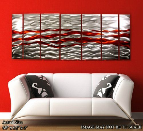 Metal Painting Wall Art Caliente Contemporary Decor by Jon Allen ...