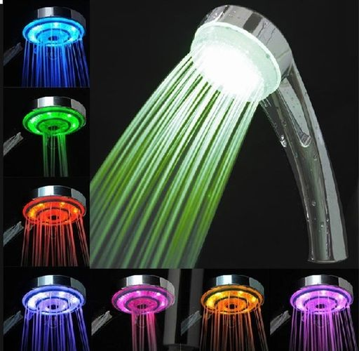 Led Temperature Control Light Shower Head Starting At 1 Led