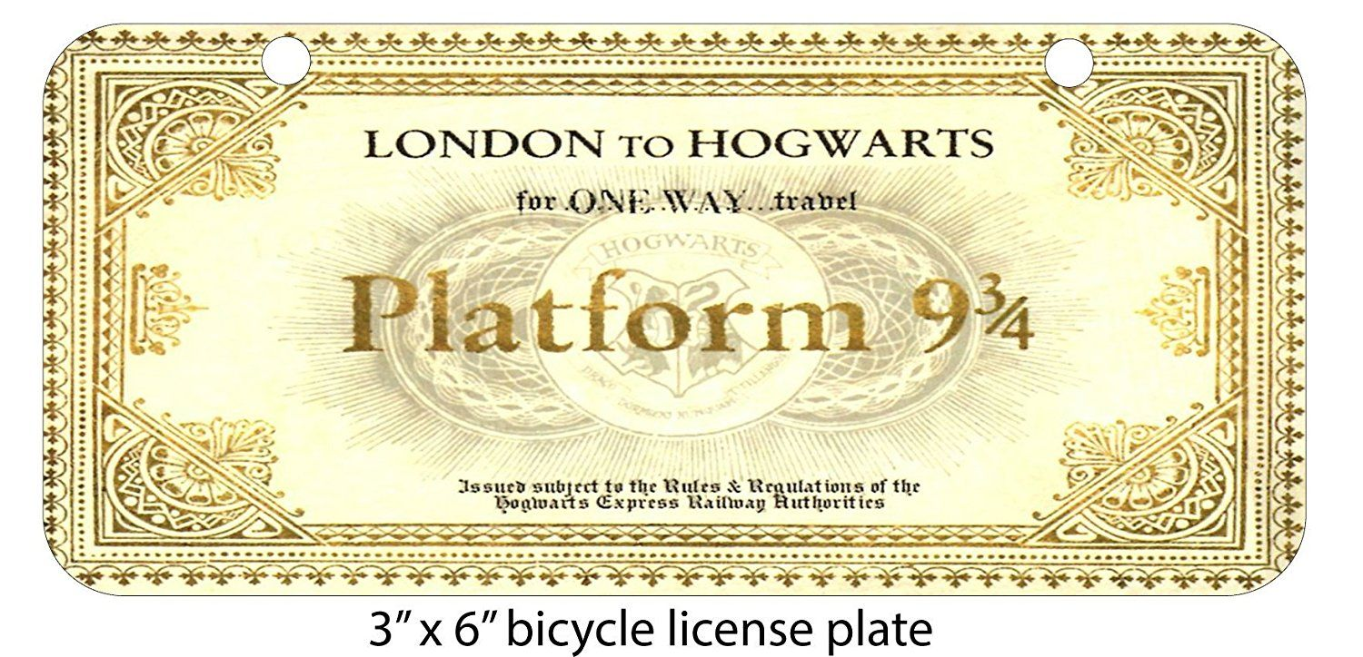 London To Hogwarts Train Ticket Design Print Image Mini 3 X6 Aluminum License Plate By Harry Potter Platform Harry Potter Invitations Harry Potter Printables