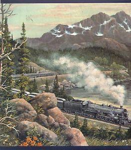 Train Wallpaper Borders Train Locomotive Elk Soaring Eagle
