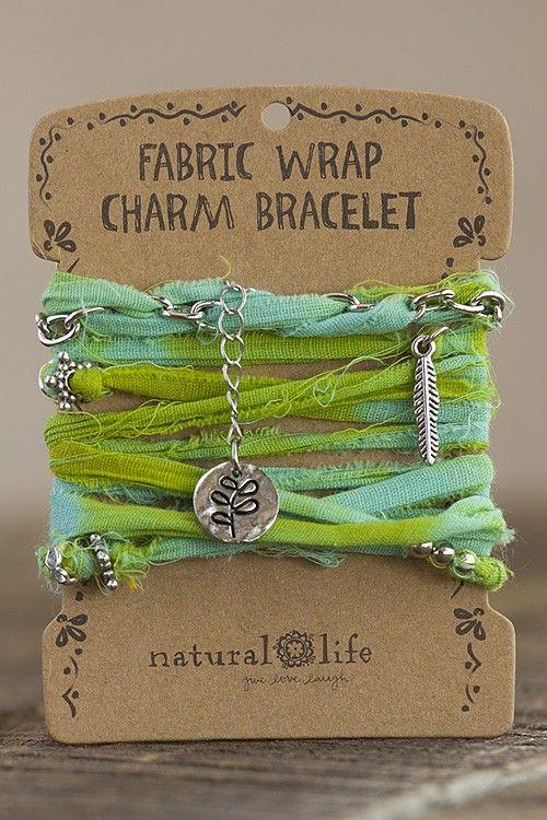 Live Simply Fabric Wrap Bracelet