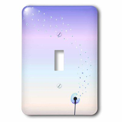 3drose Girly Dandelion 1 Gang Toggle Light Switch Wall Plate Wayfair In 2020 Light Switch Covers Diy Light Switch Art Light Switch