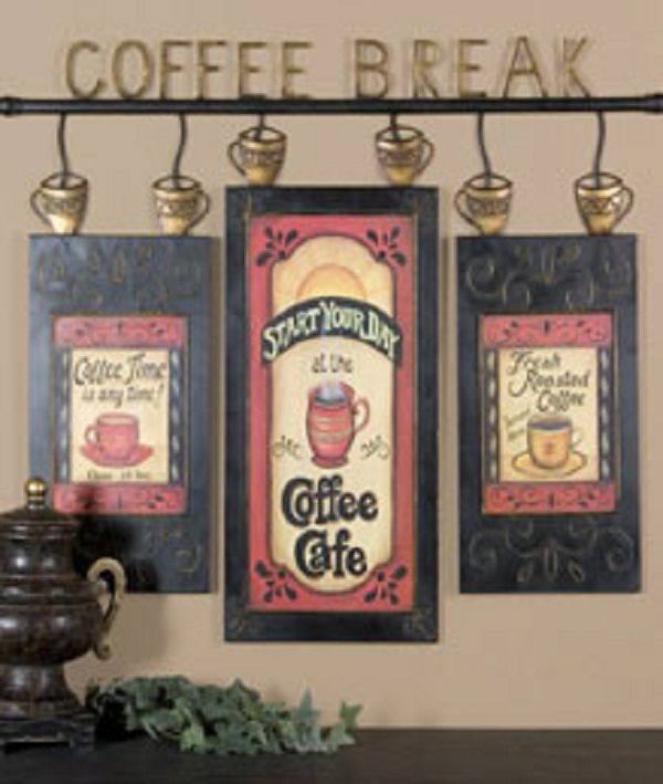 Coffee Themed Kitchen Curtains: Utilize Coffee Décor For Kitchen: Coffee Wine Kitchen
